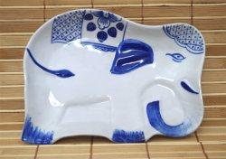 画像1: 象柄 中皿