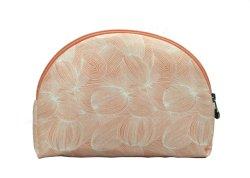 画像1: ジムトンプソン タイシルク ポーチ  半円形 オレンジ