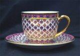 コーヒーカップ&ソーサー 丸型 ピンク