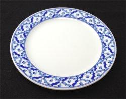 画像1: ブルー/ホワイト プレーン丸皿  16cm