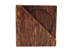 画像1: コースター 木製 6枚組み ケース付