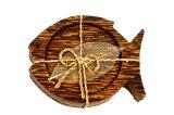 コースター 木製 3枚組み  魚