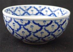 画像1: ブルー/ホワイト お碗 中